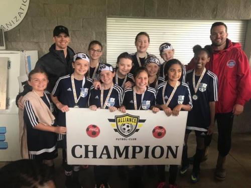'07/06' Girls - Alliance Cup Champions