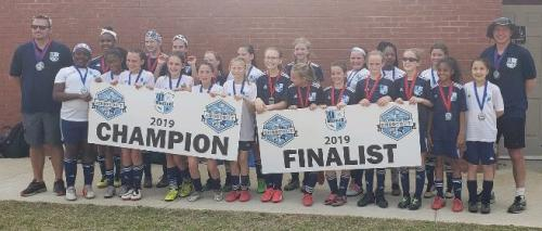 '07' Girls Elite - Friendly City Shootout Champions and Finalists